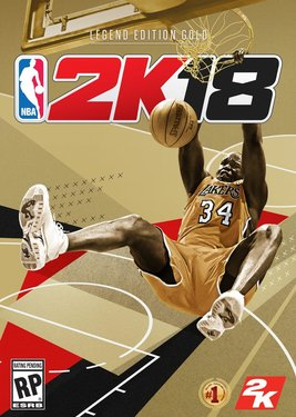 NBA 2K18 - Legend Edition Gold постер (cover)