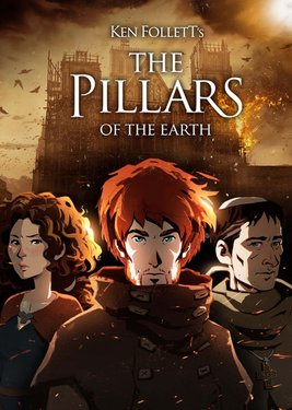 Ken Follett's The Pillars of the Earth постер (cover)