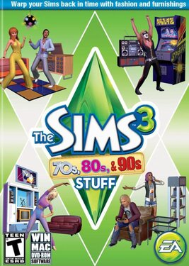 The Sims 3 - 70's, 80's and 90's постер (cover)