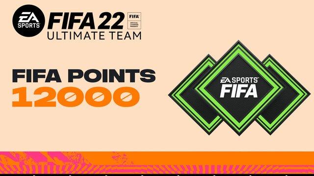 FIFA 22 Ultimate Team - 12000 очков FIFA Points