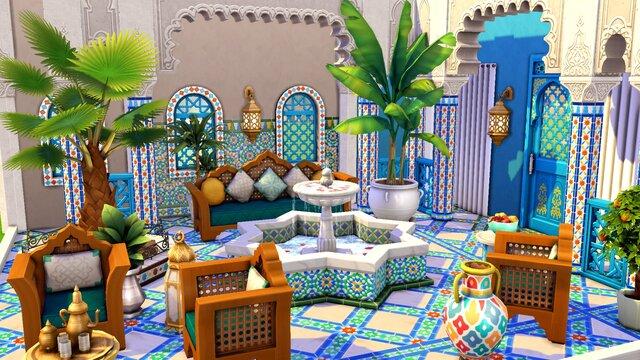 The Sims 4: Courtyard Oasis Kit